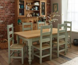 Stylish painted dining room table 09