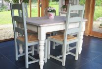 Stylish painted dining room table 13