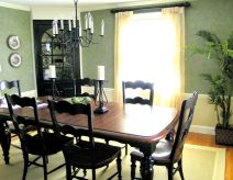 Stylish painted dining room table 17