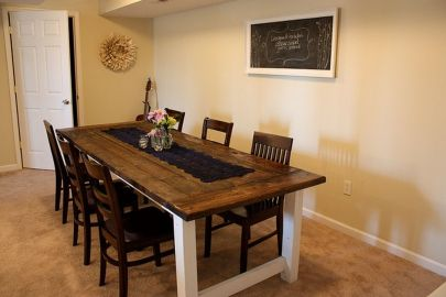 Stylish painted dining room table 24
