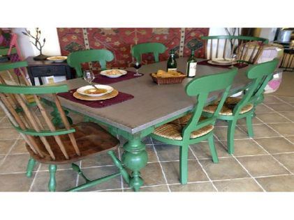 Stylish painted dining room table 26