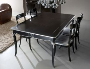 Stylish painted dining room table 33