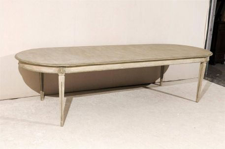 Stylish painted dining room table 38
