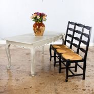 Stylish painted dining room table 45
