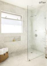 Stylish white subway tile bathroom 17