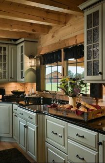 Wood and glass kitchen cabinets 04