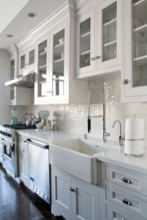 Wood and glass kitchen cabinets 10