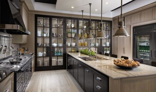 Wood and glass kitchen cabinets 25