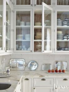 Wood and glass kitchen cabinets 26