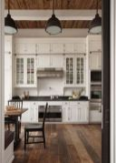 Wood and glass kitchen cabinets 35