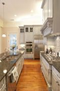 Wood and glass kitchen cabinets 37