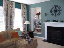 Adorable burnt orange and teal living room ideas 05