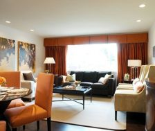 Adorable burnt orange and teal living room ideas 06