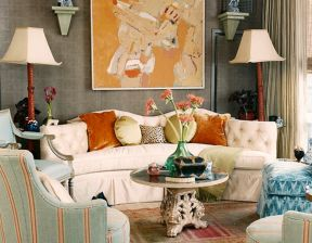 Adorable burnt orange and teal living room ideas 10