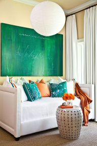 Adorable burnt orange and teal living room ideas 26