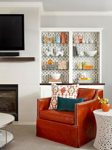 Adorable burnt orange and teal living room ideas 30