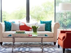 Adorable burnt orange and teal living room ideas 32