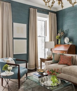 Adorable burnt orange and teal living room ideas 35