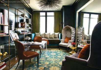 Adorable burnt orange and teal living room ideas 36