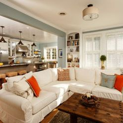 Adorable burnt orange and teal living room ideas 40