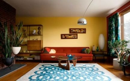 Adorable burnt orange and teal living room ideas 44