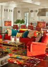 Adorable burnt orange and teal living room ideas 52