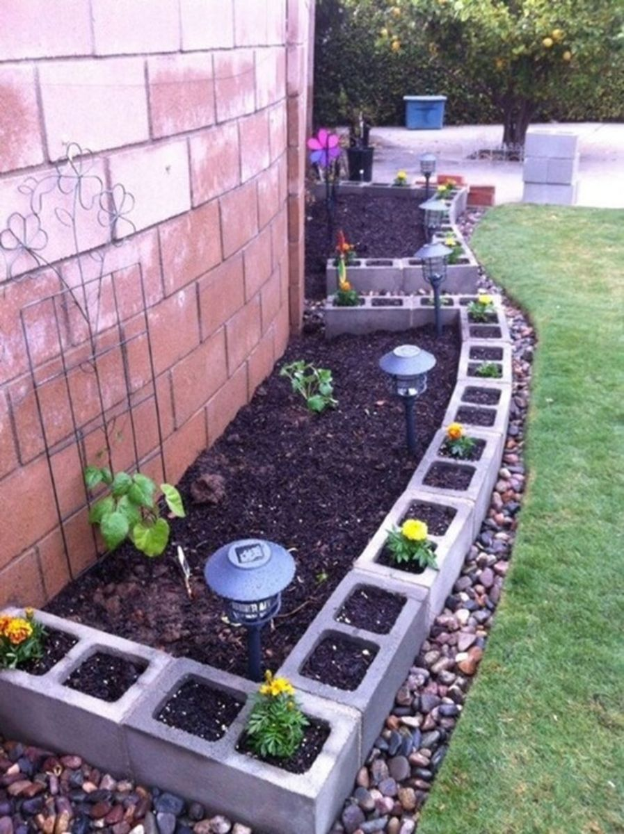 Affordable backyard vegetable garden designs ideas 18