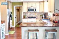 Amazing cream and dark wood kitchens ideas 06