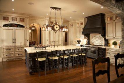 Amazing cream and dark wood kitchens ideas 12