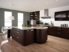 Amazing cream and dark wood kitchens ideas 20
