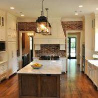 Amazing cream and dark wood kitchens ideas 51
