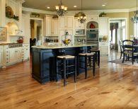 Amazing cream and dark wood kitchens ideas 59