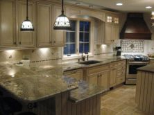 Amazing cream and dark wood kitchens ideas 66