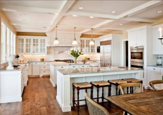 Beautiful hampton style kitchen designs ideas 12