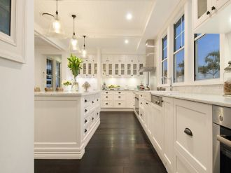 Beautiful hampton style kitchen designs ideas 41