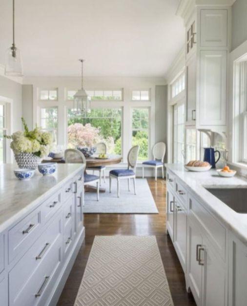Beautiful hampton style kitchen designs ideas 48