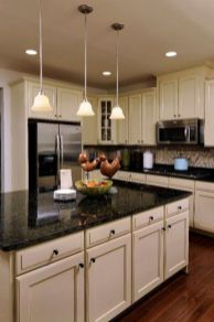 Beautiful kitchens ideas with black granite 36