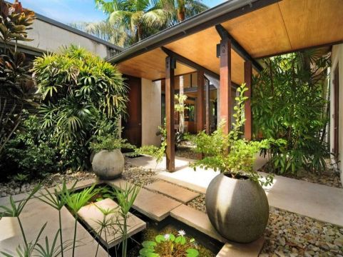 Beautiful modern japanese garden landscape ideas 26