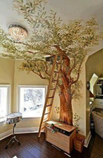 Cool decorating ideas for large living room wall 58