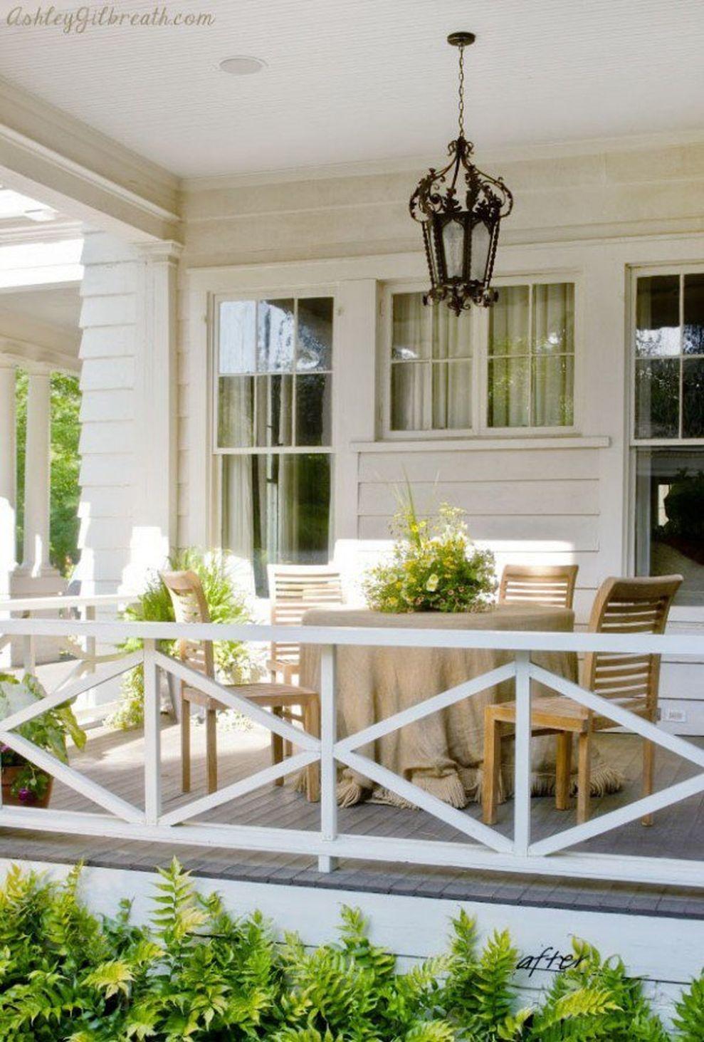 Creative front porch garden design ideas 06