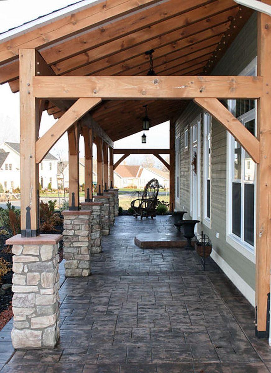 Creative front porch garden design ideas 14