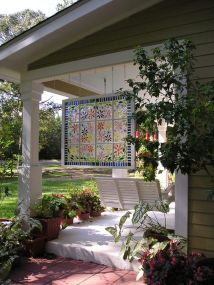 Creative front porch garden design ideas 19