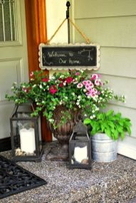 Creative front porch garden design ideas 22