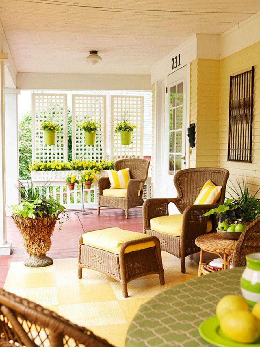 Creative front porch garden design ideas 44