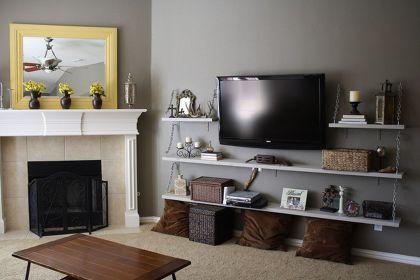 Creative ideas hiding a tv in the living room 02