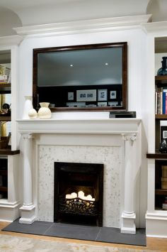 Creative ideas hiding a tv in the living room 23
