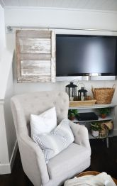 Creative ideas hiding a tv in the living room 47