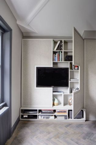Creative ideas hiding a tv in the living room 62
