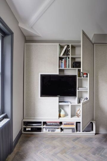 Creative ideas hiding a tv in the living room 62