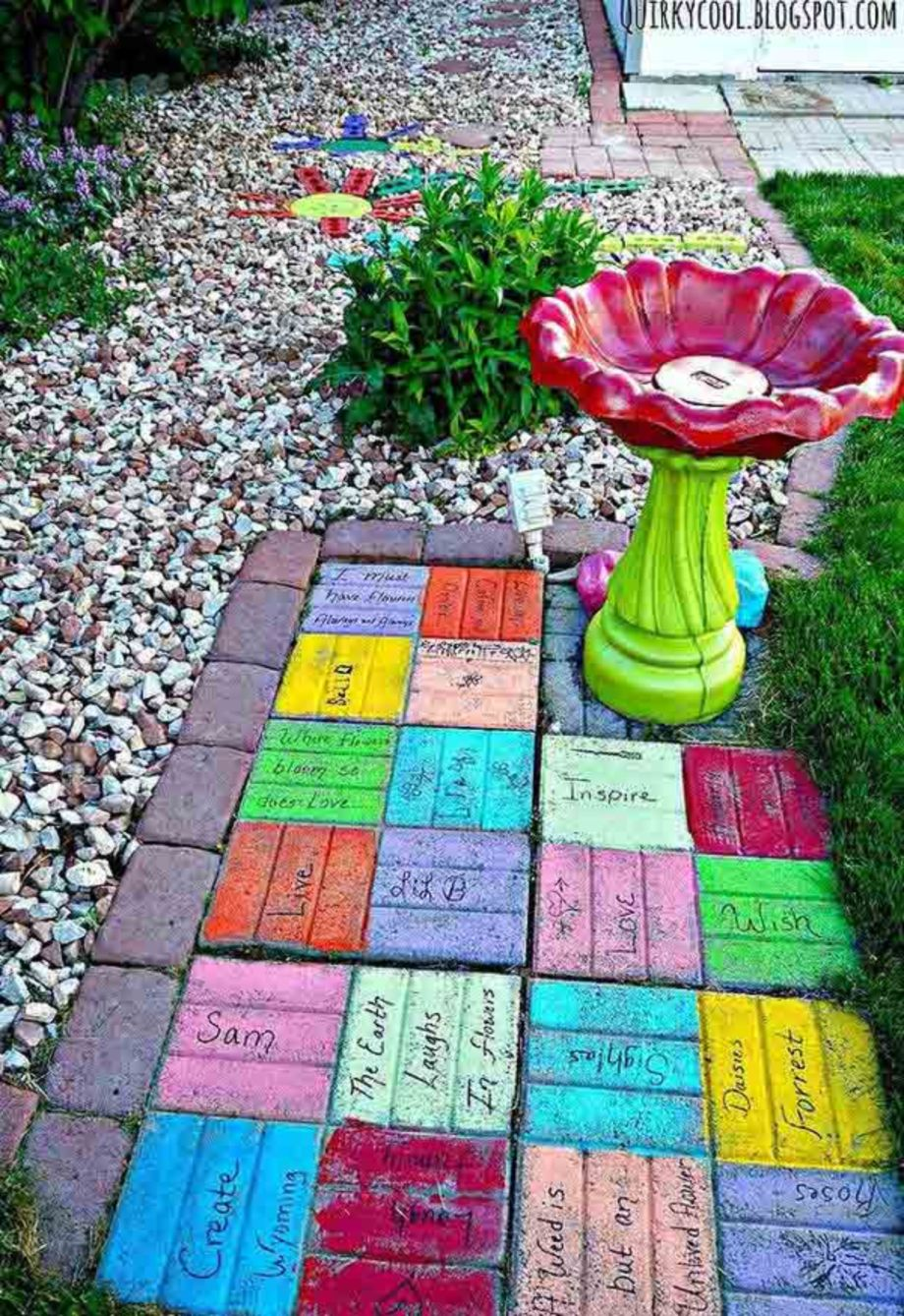 Cute and cool garden art for kids design ideas 04